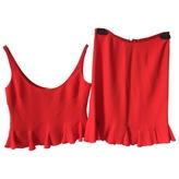 RED Valentino VALENTINO Red Silk Skirt