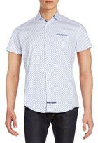 English Laundry Regular-Fit Pindot Cotton Sportshirt