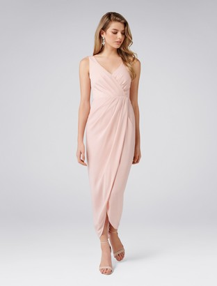 Forever New Victoria Petite Wrap Dress - Nude - 4