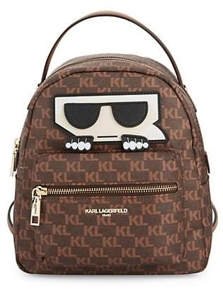 Karl Lagerfeld Paris Logo Zip Backpack