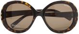 Max Mara Brown Plastic Sunglasses