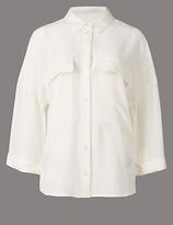 Autograph Pure Silk 3/4 Sleeve Shirt