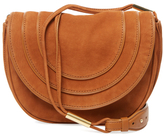 Diane von Furstenberg Small Nubuck Saddle Crossbody