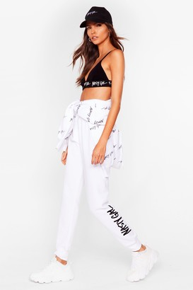 Nasty Gal Womens Word on the Street Relaxed Joggers - Black - L