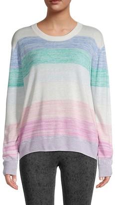 Splendid Striped Linen-Blend Sweater