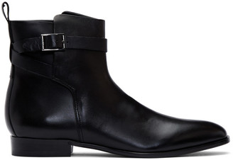 HUGO Black Cult Buckle Boots