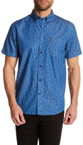 Ben Sherman Floral Chambray Short Sleeve Slim Fit Shirt