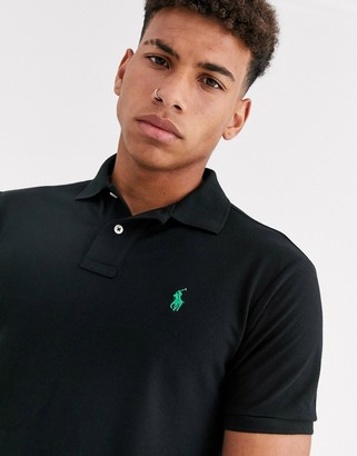 Polo Ralph Lauren Earth recycled polyester polo shirt in black