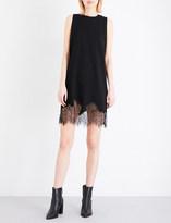 McQ by Alexander McQueen Floral lace-trim jersey dress