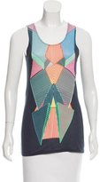 Jonathan Saunders Sleeveless Scoop Neck Top