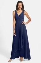 Eliza J Front Drape Chiffon Dress