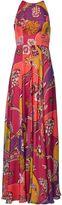 Matthew Williamson Himitsu Garden Chiffon Halter Gown