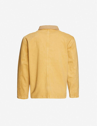 Stussy Logo-embroidered cotton-drill jacket