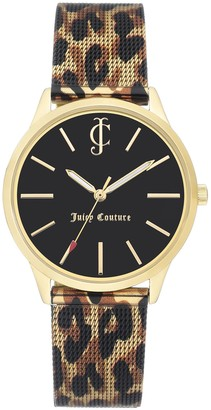 Juicy Couture Leopard Strap Black Dial Watch