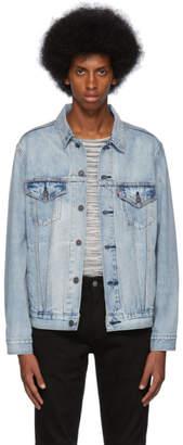 Levi's Levis Blue Denim Vintage-Fit Trucker Jacket
