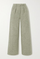 ALEXACHUNG Pleated Wool-blend Wide-leg Pants