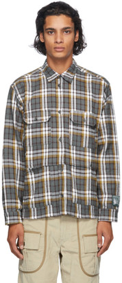 Reese Cooper Grey Flannel Check Shirt