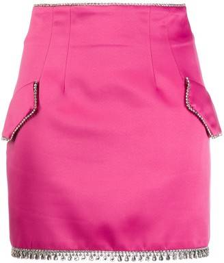 Giuseppe di Morabito Crystal Trimmed Mini Skirt
