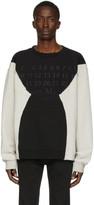 Maison Margiela Grey and Black Embroidered Logo Sweatshirt