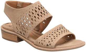 Sofft Low Wedge Leather Sandals - Nell