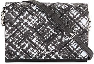 Karl Lagerfeld Paris Connie Saffiano Crossbody Bag