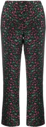 Miu Miu Pre Owned Floral Print Trousers