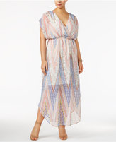 Love Squared Trendy Plus Size Printed Chiffon Maxi Dress