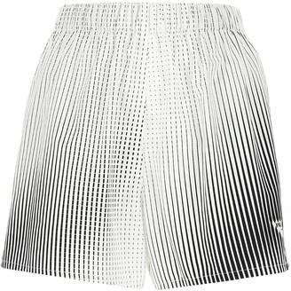 Prada Logo Print Striped Shorts