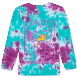 Peanuts Little Boys Snoopy & Woodstock Pure Joy Tie-Dye T-Shirt