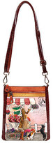 Nicole Lee Women's Claire Blocked Euro Print Messenger Bag