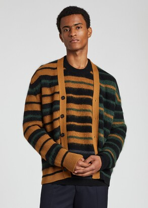 Paul Smith Men's Wool And Mohair-Blend Stripe Cardigan