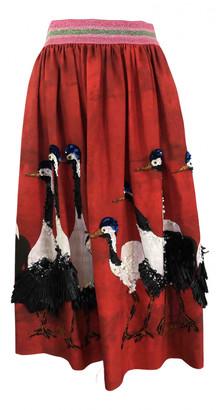 Stella Jean Red Cotton Skirts