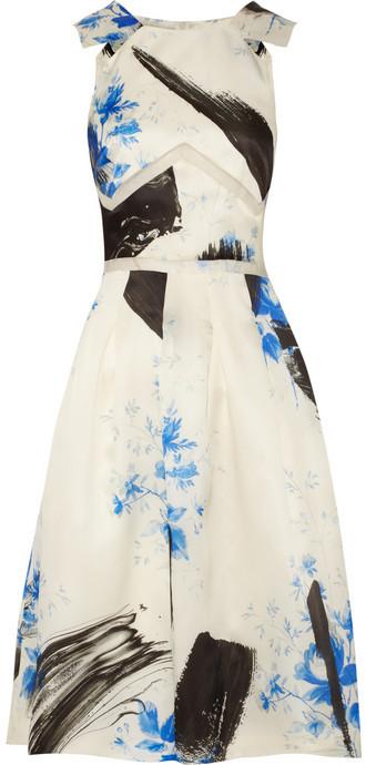 Christopher Kane Printed silk-organza dress