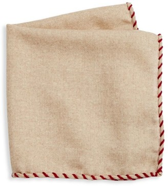 Brunello Cucinelli Whipstitch Pocket Square