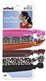Scunci 3904103a048 Lady Knot Ponytailers Pack 6 Count