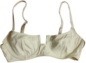 Solid & Striped Ecru Lycra Swimwear for Women