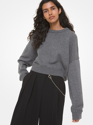 Michael Kors Collection Cashmere Cropped Sweater