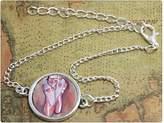 no Ballerina bracelet Ballet Jewelry Pink Ballet Slippers Dancing Shoes Dance bangle Ballet print glass bracelet