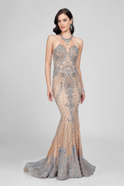 Terani Couture Goddess-like Shining Halter Neck Beaded Mermaid Gown Couture1722E4249