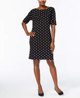 Karen Scott Petite Dot-Print Shift Dress, Created for Macy's