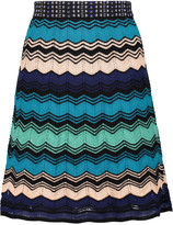 M Missoni Metallic textured cotton-blend skirt