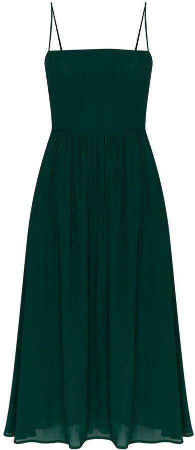 Reformation Rosehip pleated midi dress