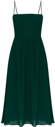 Reformation Rosehip pleated midi dress