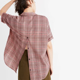 Madewell Courier Button-Back Shirt in Hartley Plaid