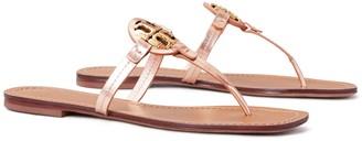 Tory Burch Mini Miller Thong Sandal, Metallic Leather
