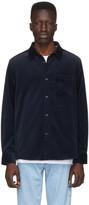 A.P.C. Navy Velvet John Overshirt