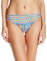 LaBlanca La Blanca Women's Corsica Tile Shirred Band Hipster Bikini Bottom