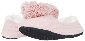 Hue Pom-Pom Ribbed Shues (Buff Pink) Women's Slippers