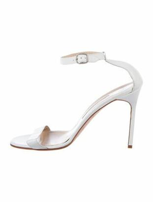 Manolo Blahnik Leather Sandals White