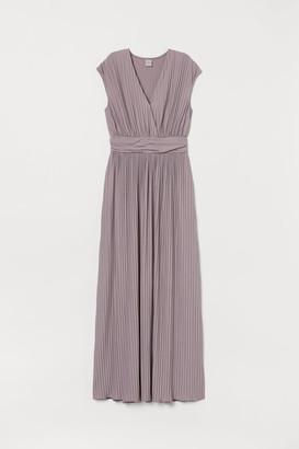 H&M Pleated long dress